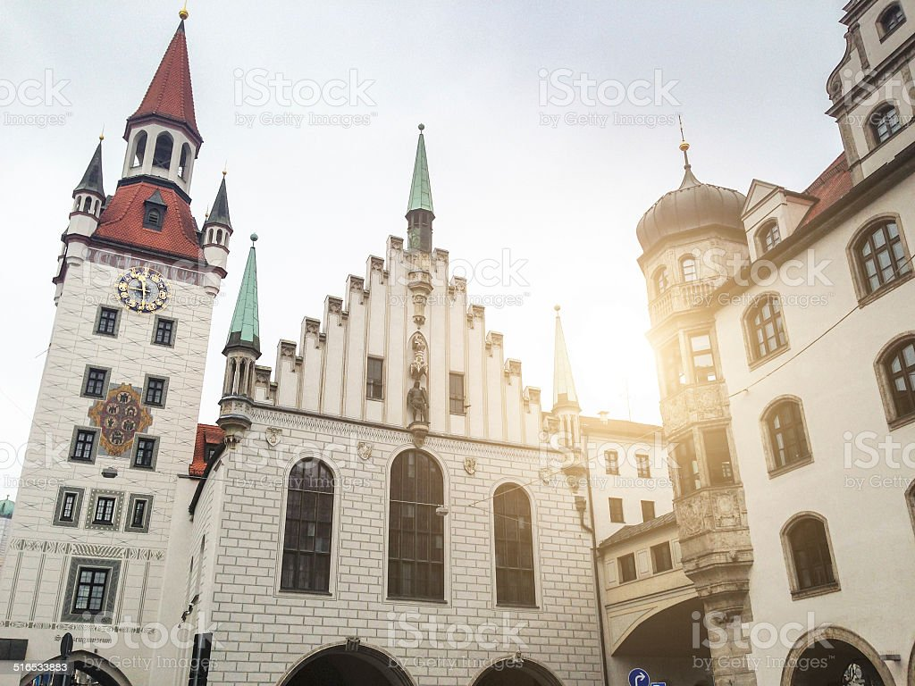 old town hall in munich stock photo