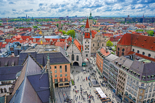 Old Town Hall located in the Marienplatz in Munich, Germany
