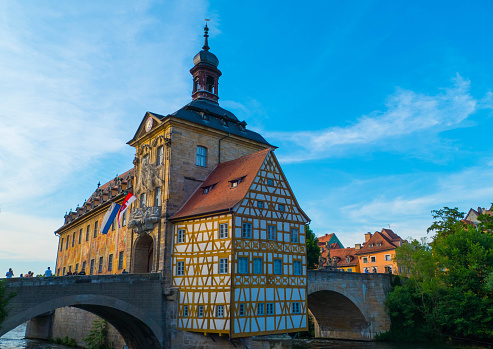 Old Town Hall of Bamberg Germany in Evening Light