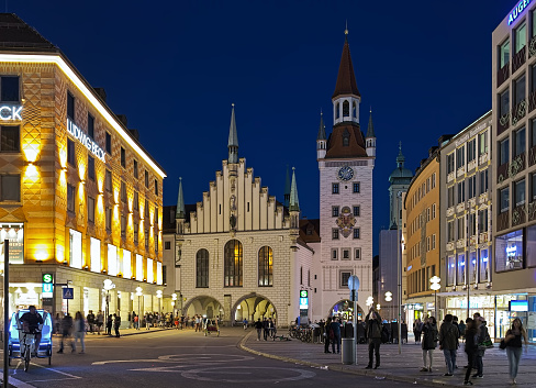 Old Town Hall of Munich in dusk, Germany