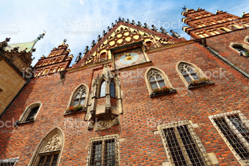 Old Town Hall of Wroclaw stock photo