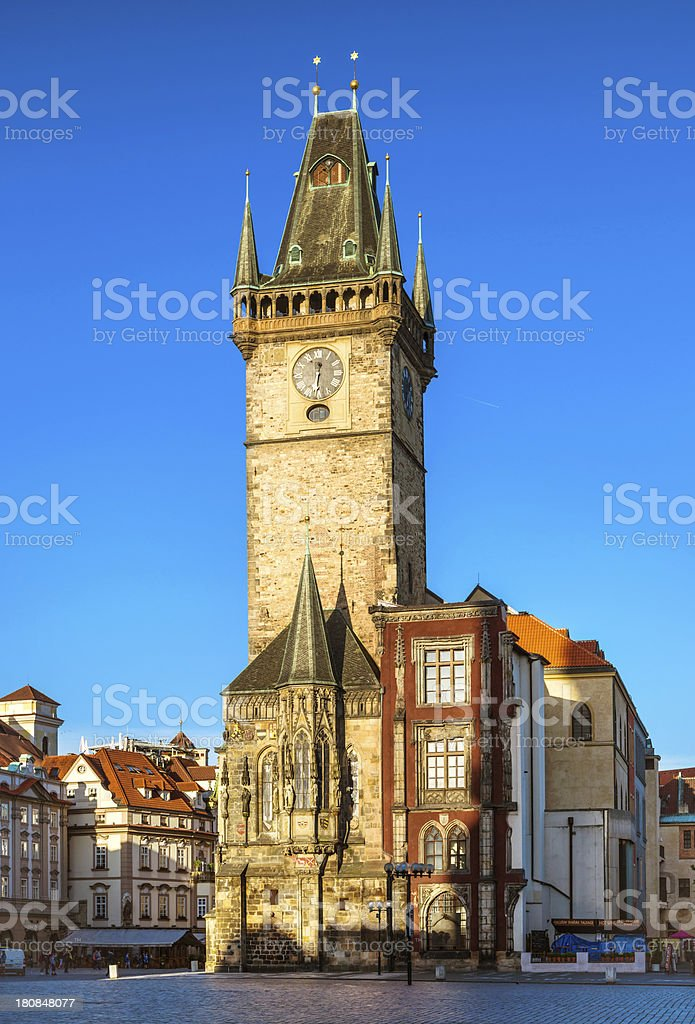 Old Town Hall Tower in Prague royalty-free stock photo