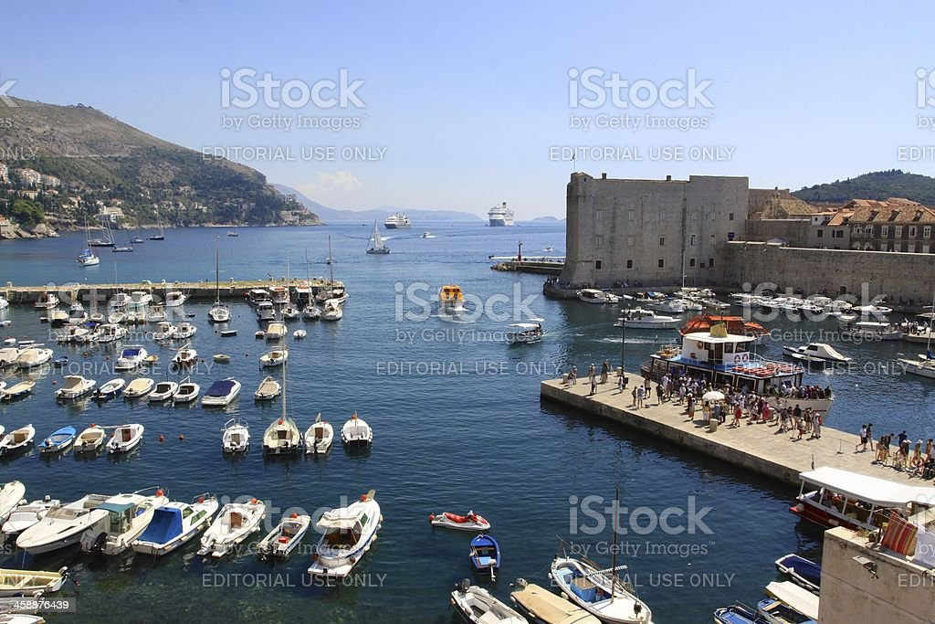 Old Town Harbor in Dubrovnik royalty-free stock photo
