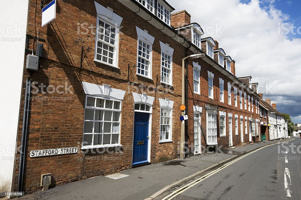 Old Town Houses and Offices in England stock photo