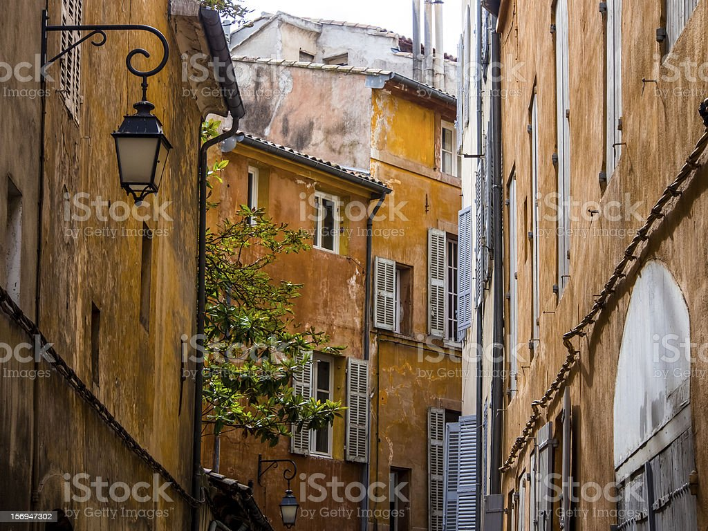 Old town in Aix stock photo