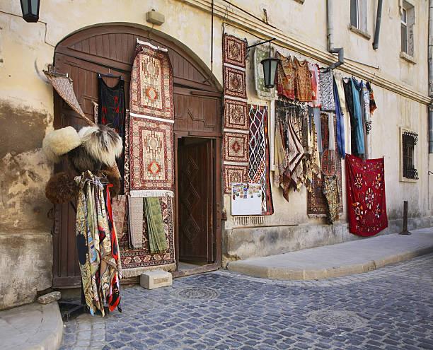 Old town in Baku. Azerbaijan stock photo