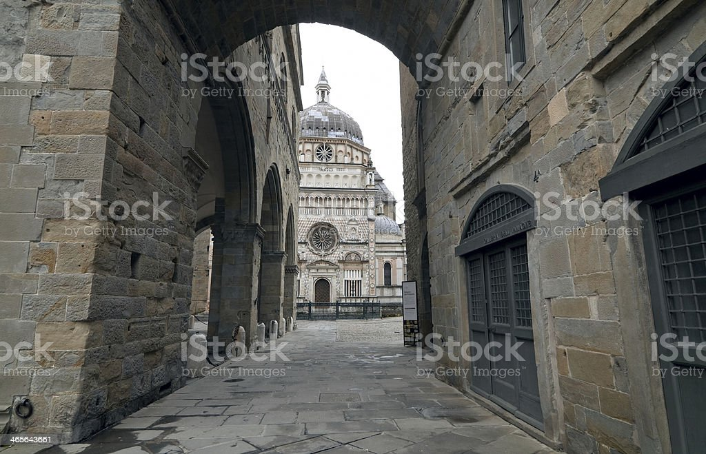 Old town in Bergamo. Italy royalty-free stock photo