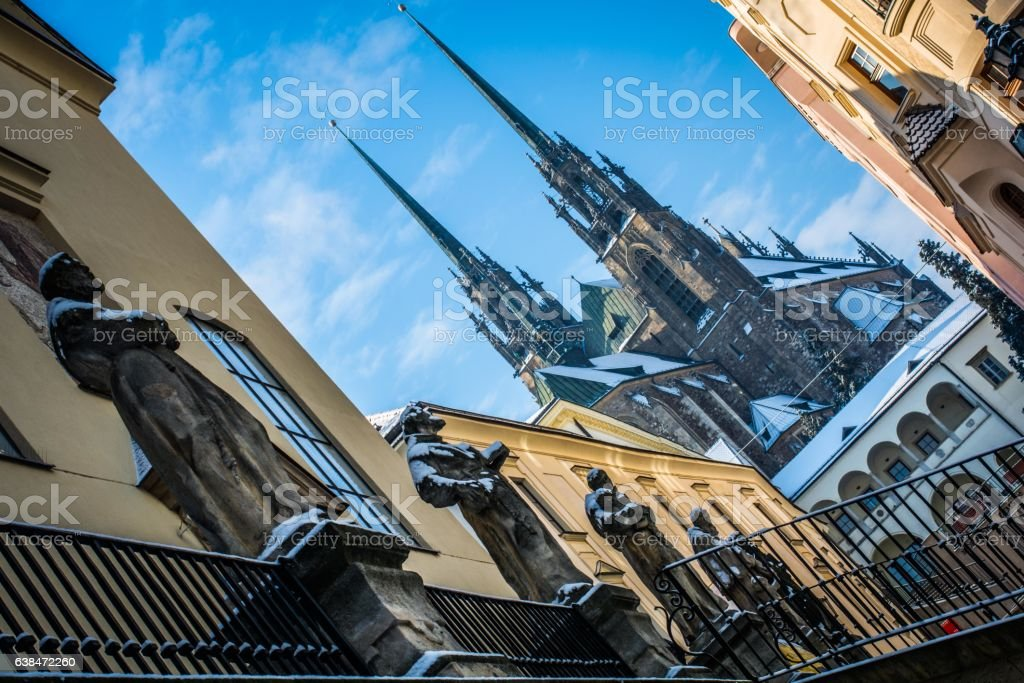 Old town in Brno stock photo