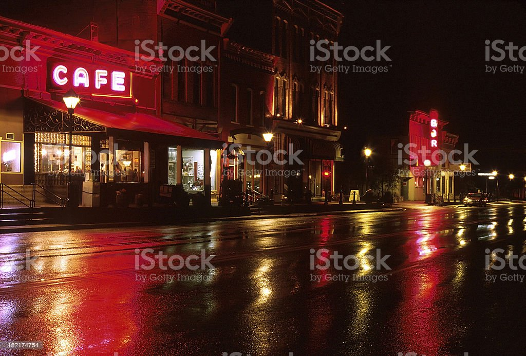 Old Town in Colorado stock photo