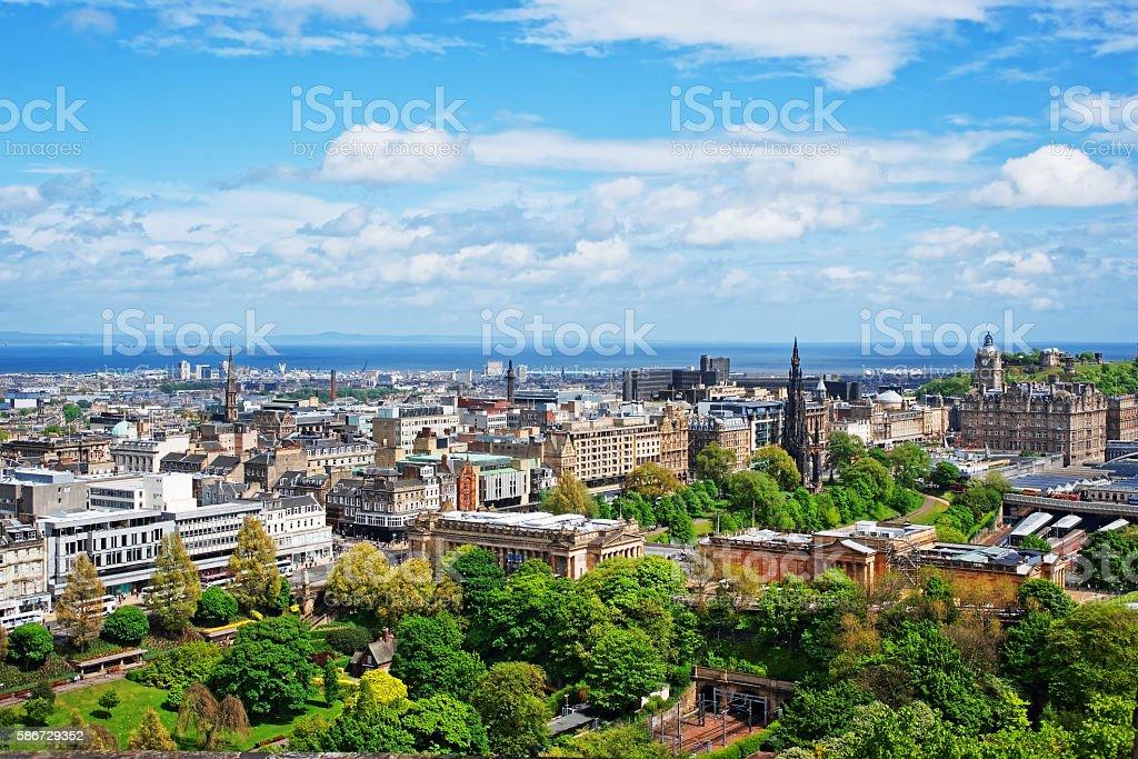 Old Town in Edinburgh in Scotland stock photo