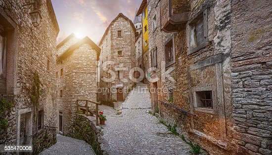 istock Old town in Europe in beautiful evening light at sunset 535470008