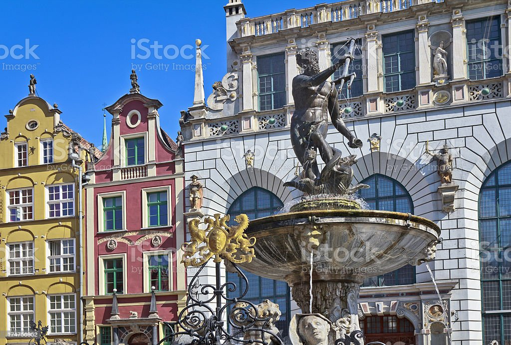 Old town in Gdansk royalty-free stock photo