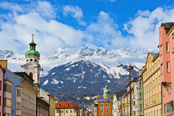 Old town in Innsbruck Austria stock photo