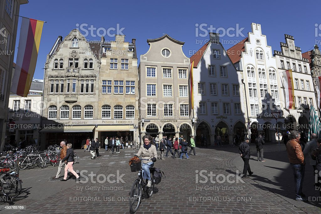 Old town in Munster, Germany stock photo
