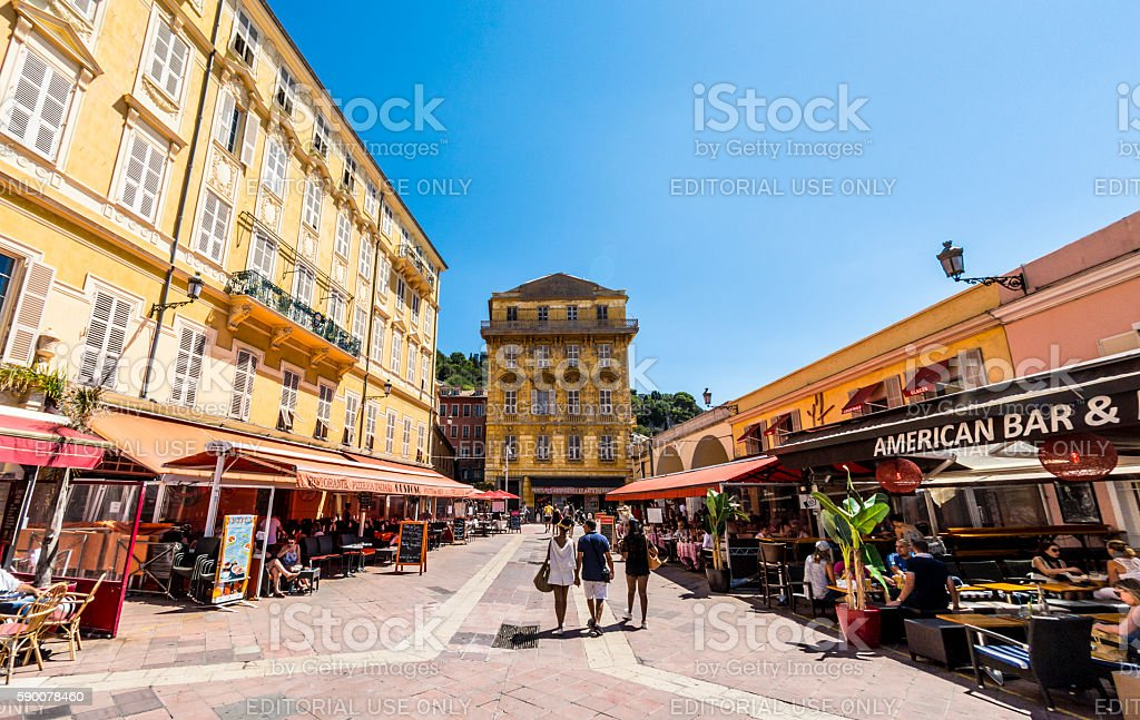 Old Town in Nice, France stock photo