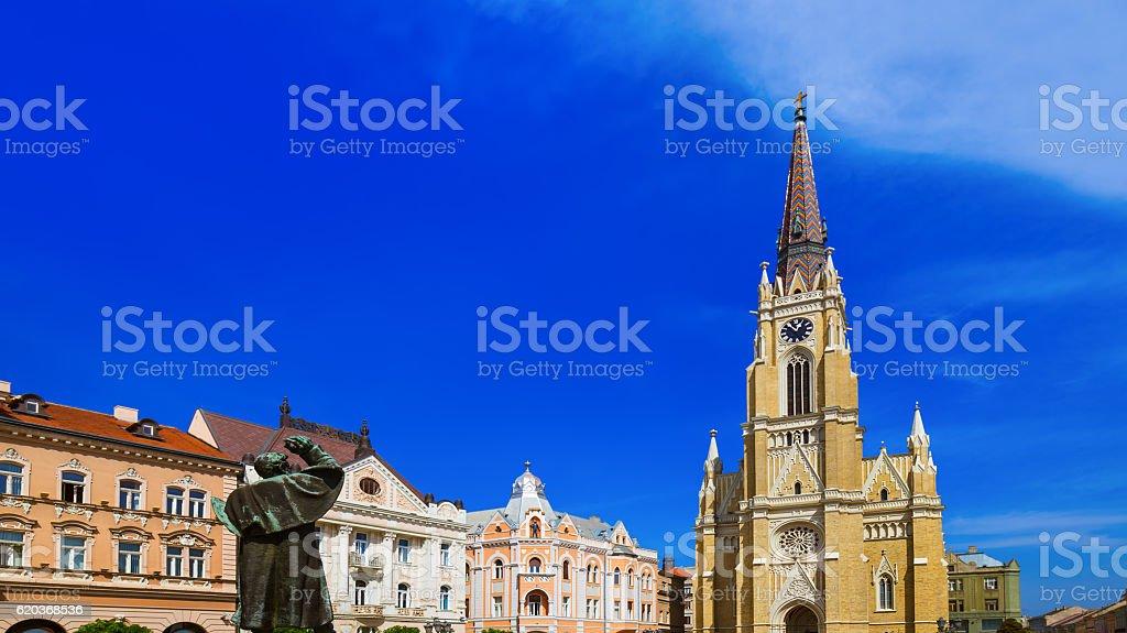 Cidade Velha em Novi Sad-Sérvia foto de stock royalty-free