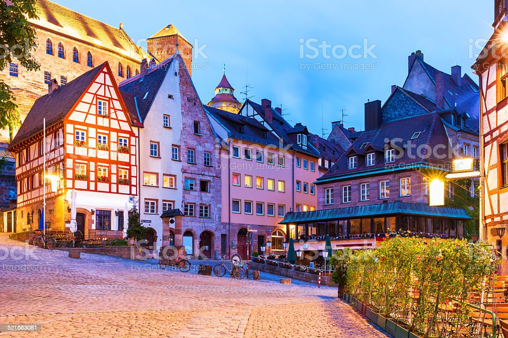 Old Town in Nürnberg, Deutschland Lizenzfreies stock-foto