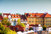 Beautiful architecture in Old Town in Prague, Czech Republic. Famous travel destination