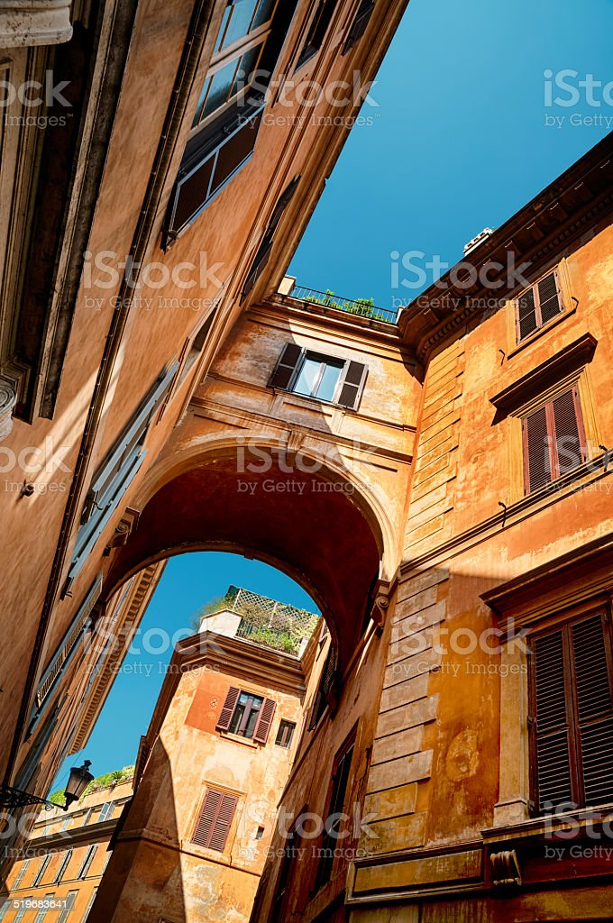 Old Town in Rome - Italy stock photo