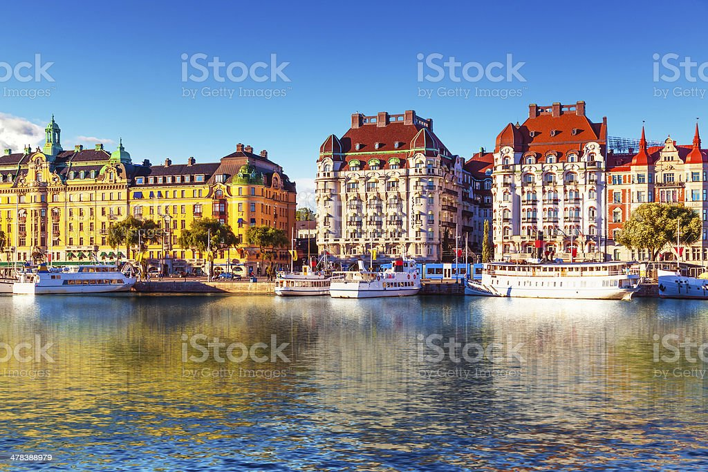 Old Town in Stockholm, Sweden royalty-free stock photo