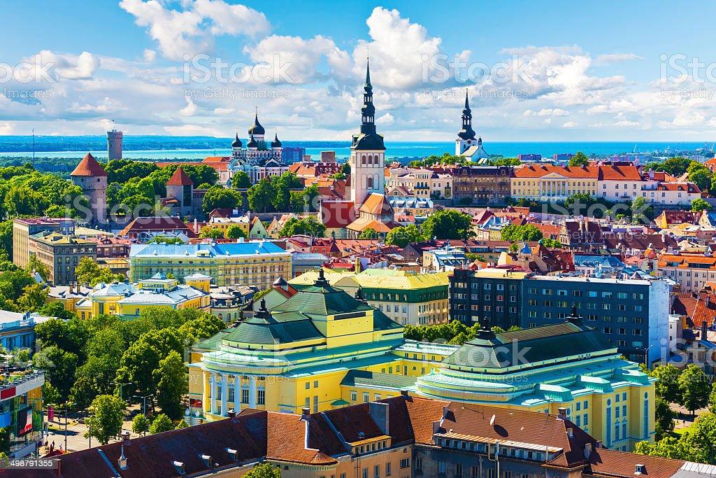 Old Town in Tallinn, Estonia stock photo