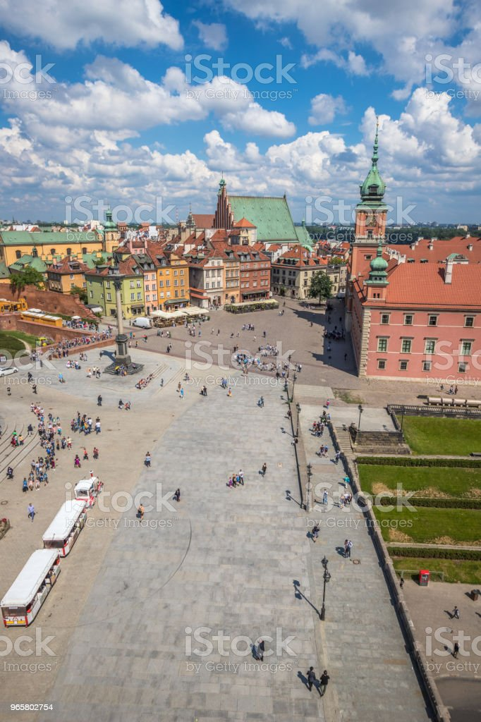 Old town in Warsaw - Royalty-free Architectural Column Stock Photo