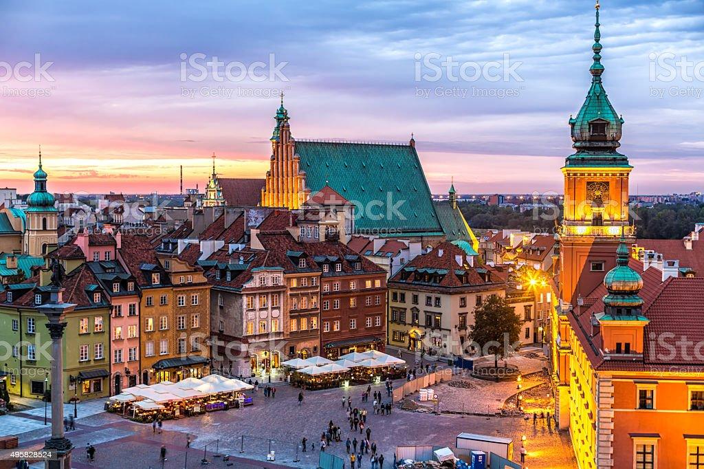 Old Town in Warschau, Polen – Foto