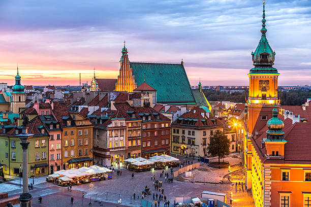 Old Town in Warsaw, Poland stock photo
