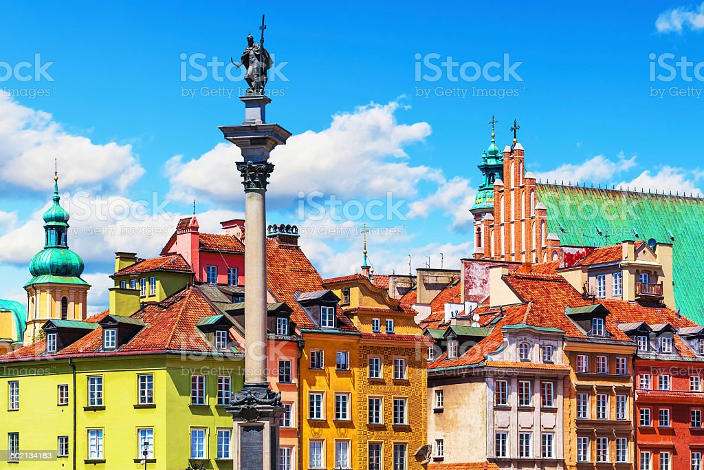 Old Town in Warsaw, Poland royalty-free stock photo