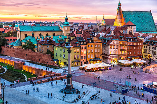 old town in warsaw, poland - poland stock photos and pictures