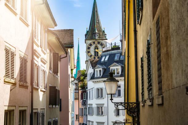 Old town in Zurich, Switzerland stock photo