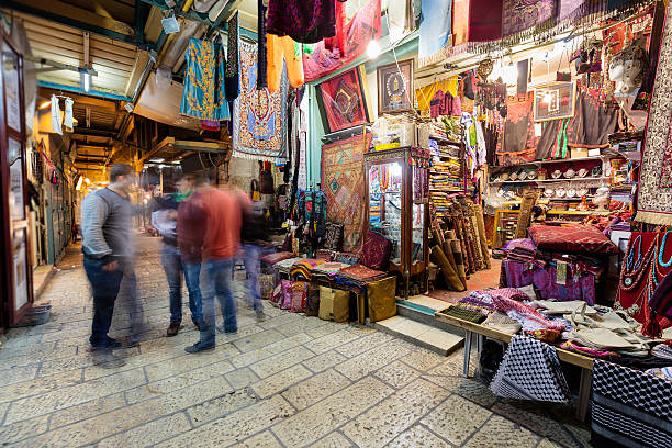 старый город иерусалима, израиль - иерусалим стоковые фото и изображения
