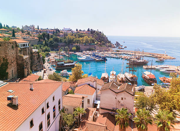 Old town Kaleici in Antalya, Turkey stock photo
