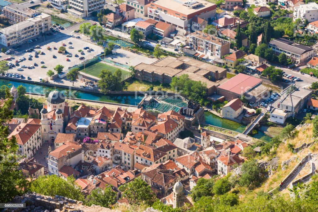 Old town, Kotor, Montenegro royaltyfri bildbanksbilder