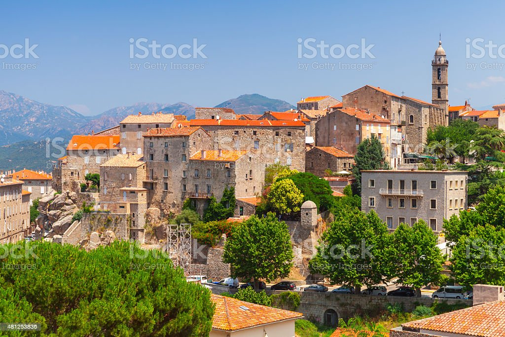 Old town landscape, Sartene, Corsica royalty-free stock photo