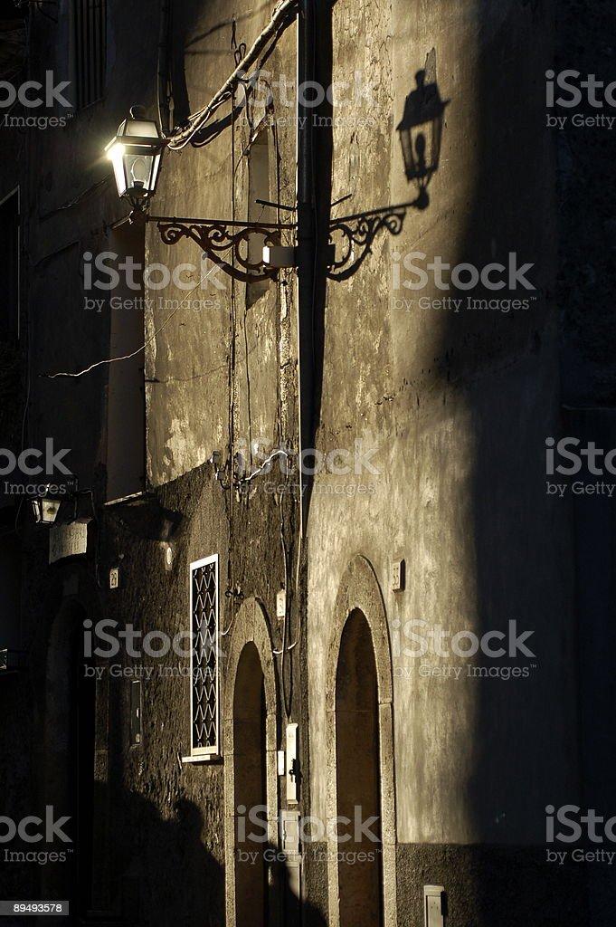 Old town lantern royalty-free stock photo