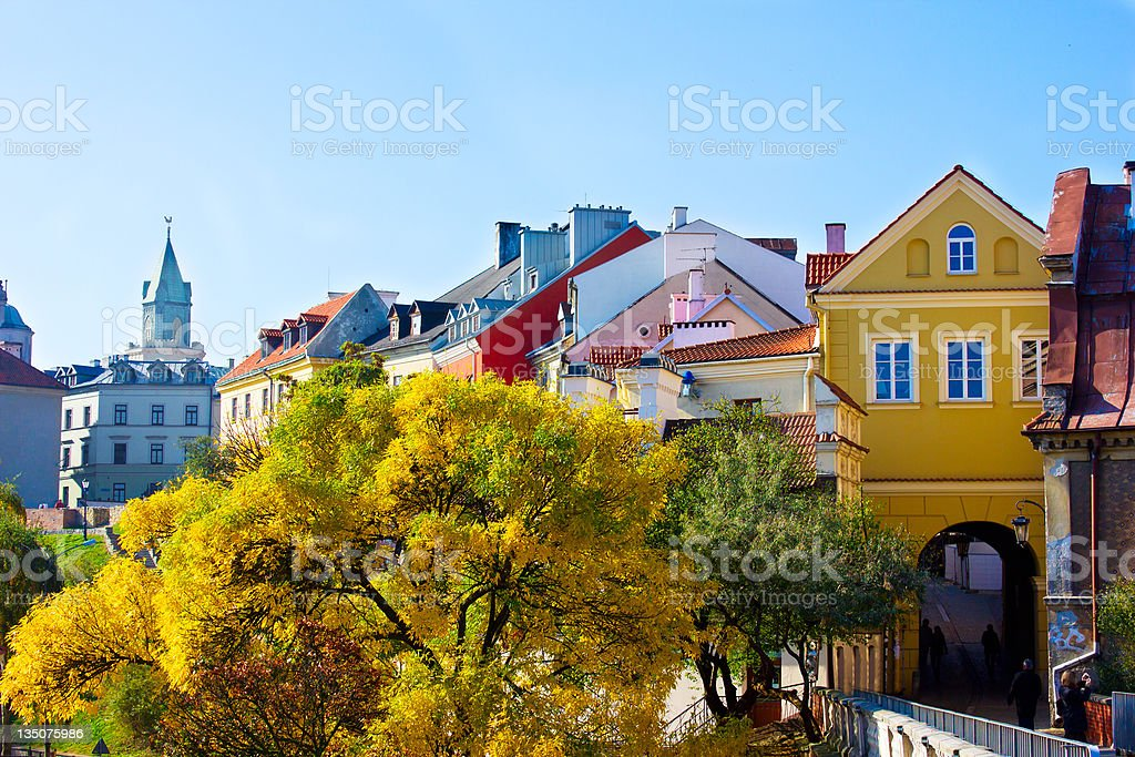 old town, Lublin, Poland stock photo