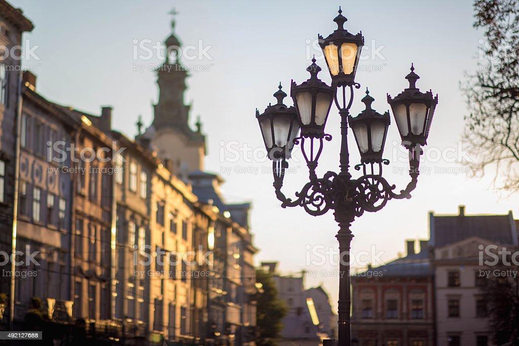 Old Town, Lviv stock photo