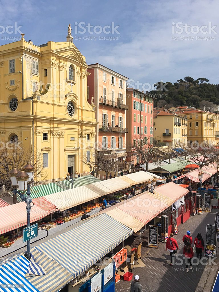 Old Town Market, Nice, France stock photo