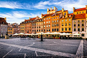 Old Town Market Place square in the morning, Warsaw, Poland