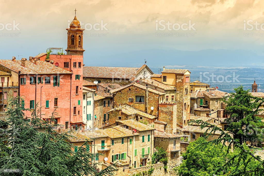 Old town Montepulciano stock photo