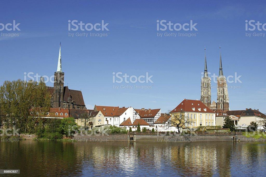 Old town-Monumentos en Wroclaw foto de stock libre de derechos