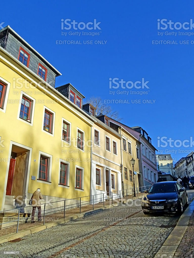 Old town of Annaberg-Buchholz in Germany stock photo