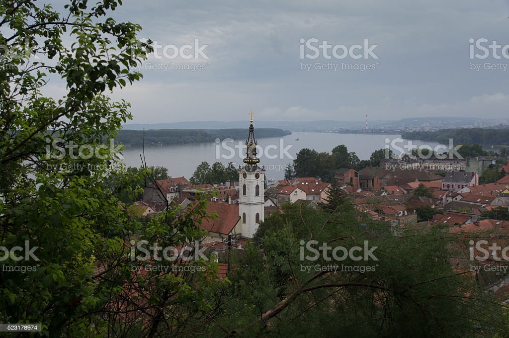 Old Town of Belgrad stock photo