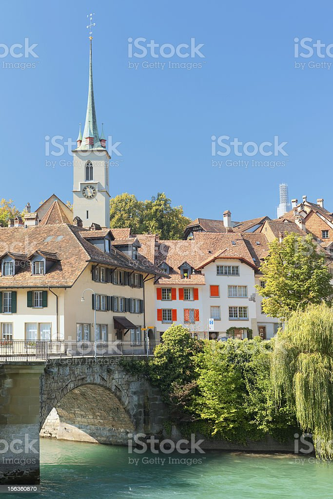 Old town of Bern and Aare river royalty-free stock photo