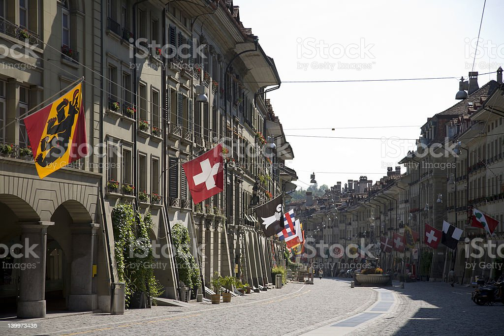 Old Town of Bern stock photo