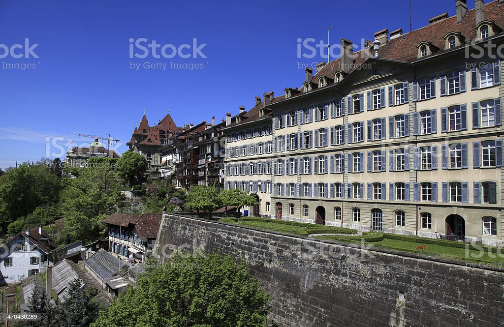 old town of Bern, the Swiss capital (Switzerland) royalty-free stock photo