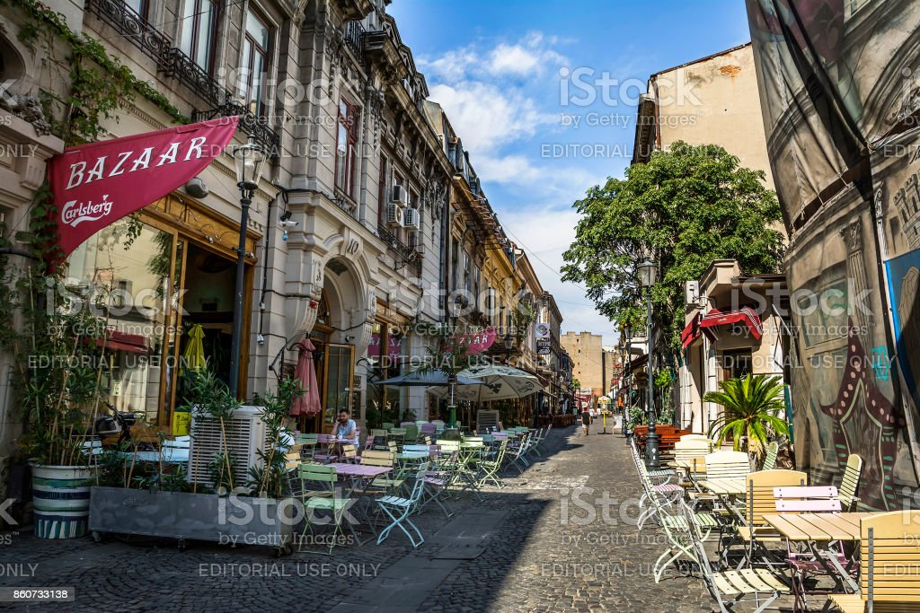 Bucharest Town Editorial Image Image Of Bucharest: Old Town Of Bucharest Lipscani District Stock Photo & More