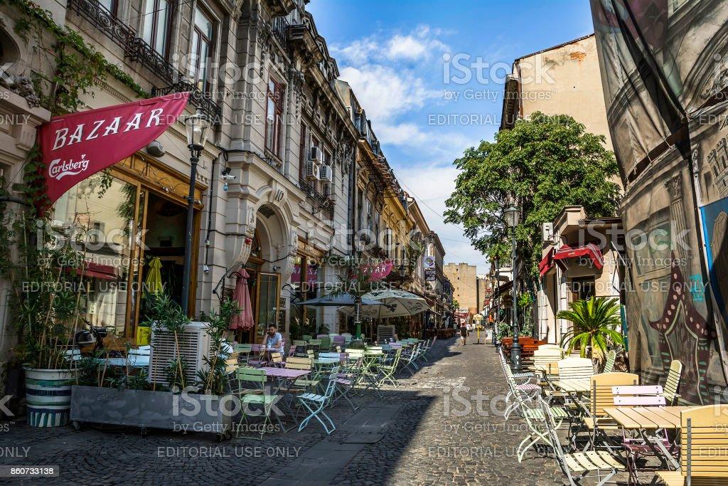 Oude stad van Boekarest, Lipscani District foto