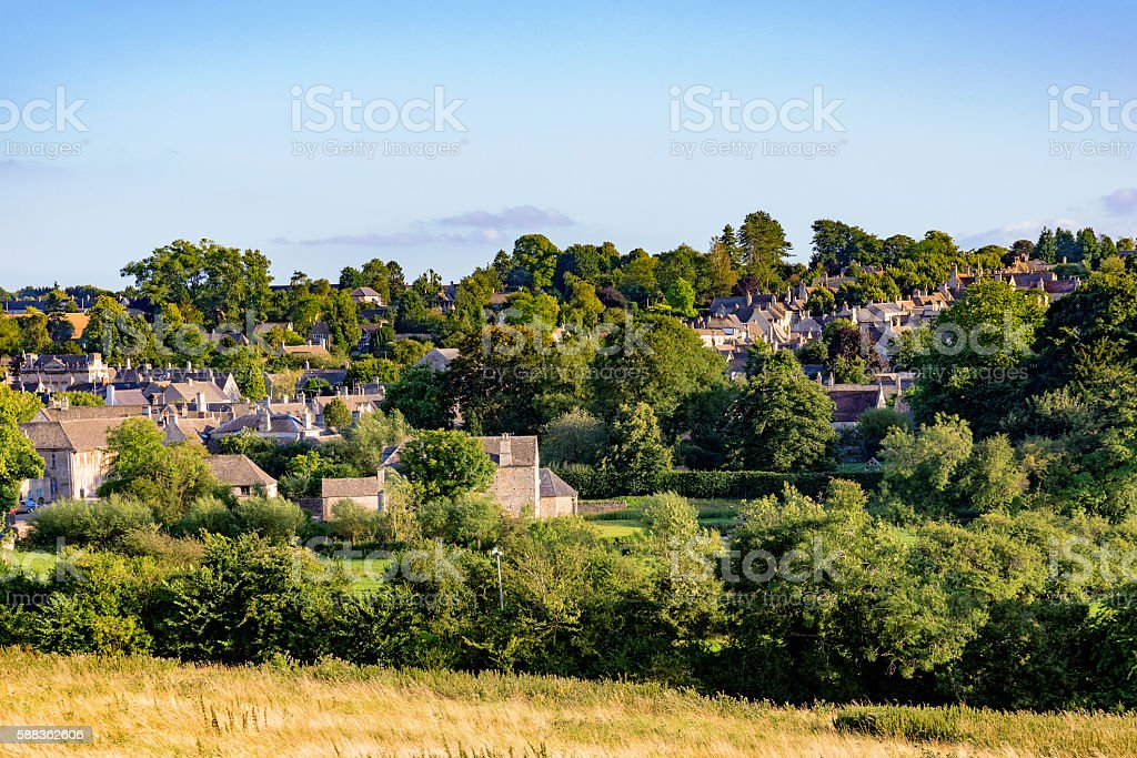 Old town of Burford stock photo